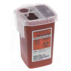 Container,Sharps,1 Qt.,Red,Phleb.