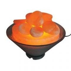 Harmony Salt Himalayan Salt Stone Warmers Poly Carbonate Bowl W/Dimmer Cord & 75W Bulb