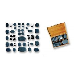 Hand Polished Basalt Massage Stones Deluxe Set