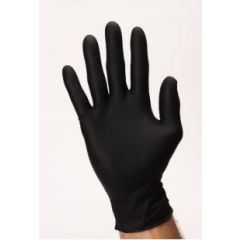 Sure Care Powder Free Black Nitrile Gloves - 100 ct