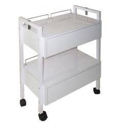 Wooden Trolley with Two Drawer
