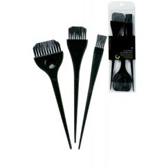 Colortrak 3PK Assorted Color Brushes - Black