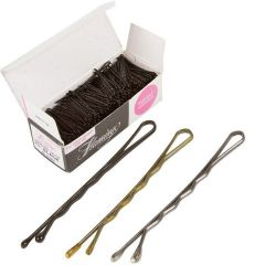 "Flamingo Crimped Ball-Tip Hair Pins (1-3/4"" Brown )"