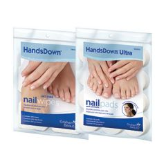 "HandsDown Nail Wipes 2"" x 2"" White 200 Count"