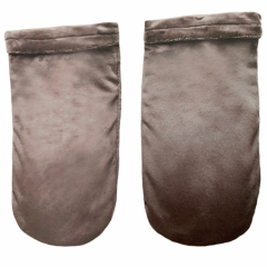 Luxury Spa Mitts, Back Bar - Charcoal