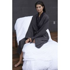 Microfiber Shimmer Lined Robe (Charcoal) -2XL