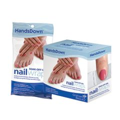 "Hands Down Nail Wrap 1"" x 4"", White 100 Count"