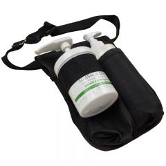 Polyester Massage Bottle Holsters - Black Double