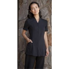 Pravia Jacket Short Sleeve Uniform - Solid Black