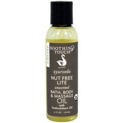Soothing Touch Nut Free Lite Unscented Bath, Body & Massage Oil 8 oz