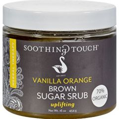 Soothing Touch Vanilla Orange Brown Sugar Scrub 16 oz