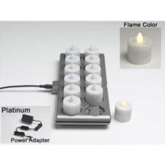 Platinum Rechargeable Warm White 12 PC