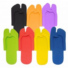 Disposable Pedicure Slippers - 12 Pair
